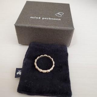 ミナペルホネン(mina perhonen)のミナペルホネン タンバリン リング 8号 銀製品 シルバー(リング(指輪))