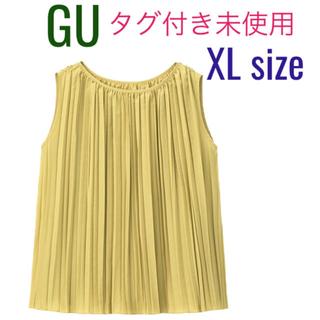 ジーユー(GU)のGU✨プリーツブラウス✨タグ付き未使用(シャツ/ブラウス(半袖/袖なし))