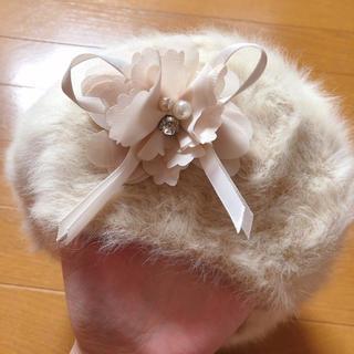 アクシーズファム(axes femme)のらいぽん様専用!axes♥︎アンゴラ♥︎うさぎベレー帽!送料無料!(ハンチング/ベレー帽)