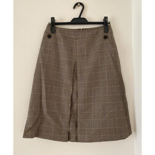 NEWYORKER(ニューヨーカー)のNew Yorker ブラウンチェックスカート レディースのスカート(ひざ丈スカート)の商品写真