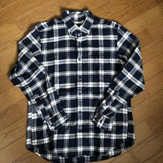 GU - GU ネルシャツ 青 チェック