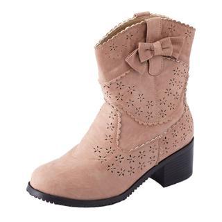 パンチング 小花 ショート ブーツ(ブーツ)