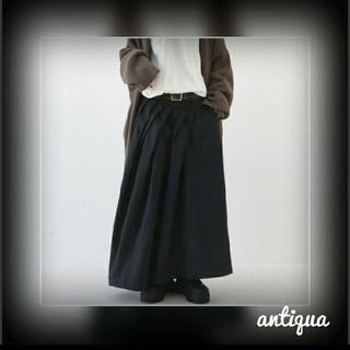 antiqua - antiqua⭐タックボリュームフレアスカート