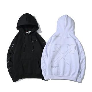 OFF-WHITE - オフホワイト パーカー メンズ 裏起毛 OFF-WHITE   男女兼用 秋冬