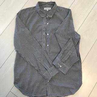 しまむら - しまむら 丸襟白黒チェックシャツ