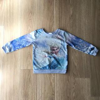 H&M - H&M アナ雪 エルサ トレーナー ラメ ブルー 100 新品