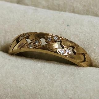 k18 ダイヤモンド ピンキーリング