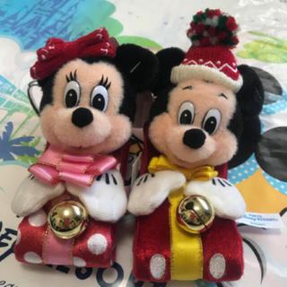 Disney - ディズニークリスマス ぬいぐるみバンド ミッキー ミニー ペアセット
