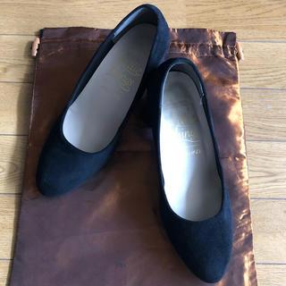 STUDIO CLIP - スタディオクリップ スウェードパンプス ブラック 美品