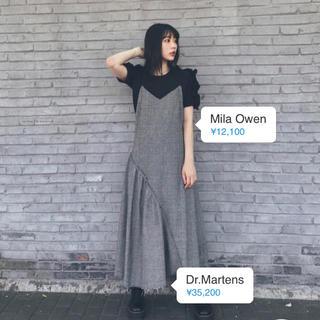 Mila Owen - アシンメトリーチェックワンピ