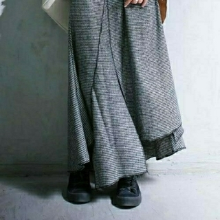 antiqua - antiqua 千鳥格子デザインスカート
