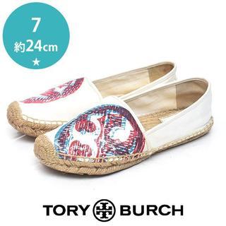 Tory Burch - トリーバーチ 定価2.3万 ロゴ エスパドリーユ 7(約24cm)