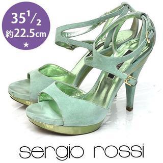 Sergio Rossi - セルジオロッシ スウェード サンダル 35 1/2(約22.5cm)
