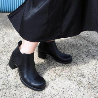 アシナガオジサン(あしながおじさん)の【送料込】値下げ✖︎ サイドゴアブーツ 黒(ブーツ)