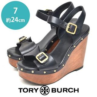 Tory Burch - トリーバーチ ベルト ウェッジソール サンダル 7(約24cm)