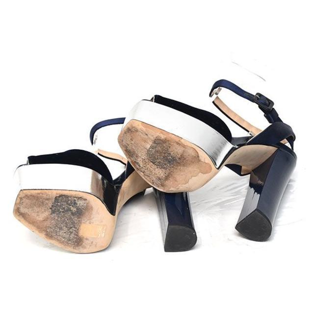 GIUZEPPE ZANOTTI(ジュゼッペザノッティ)のジュゼッペザノッティ ベロア サテンストラップ サンダル 36(約23cm) レディースの靴/シューズ(サンダル)の商品写真