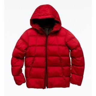 GU - GU フード付き中綿ジャケット 赤 S サイズ