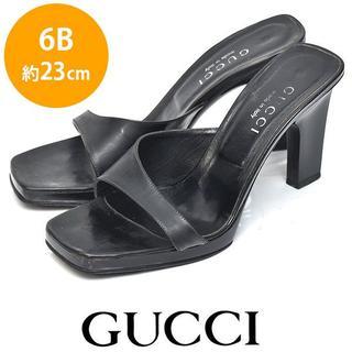 Gucci - グッチ レザー サンダル 6B(約23cm)