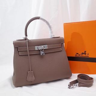 Hermes - エトープ ケリー28 内縫い トリヨン  シルバー金具 ハンドバッグ