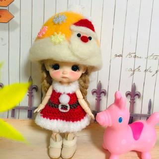 オビツ11  服 クリスマス サンタ 服 帽子セットG♡
