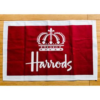 ハロッズ(Harrods)のイギリス英国製 Harrodsティータオル(テーブル用品)