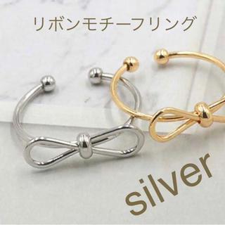メタルリボンモチーフリング シルバー(リング(指輪))