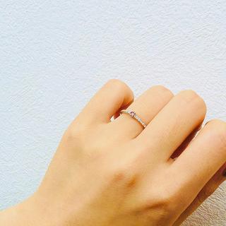 オススメです! パープリッシュピンク ハーフエタニティ(リング(指輪))