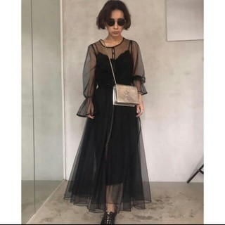 Ameri VINTAGE - 完売品 AMERI TULLE SEE-THROUGH DRESS