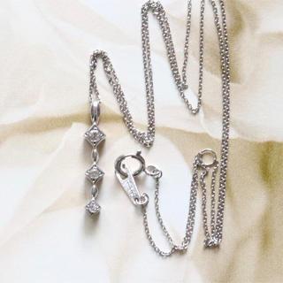 ホワイトゴールド ダイヤ ネックレス k10&k18