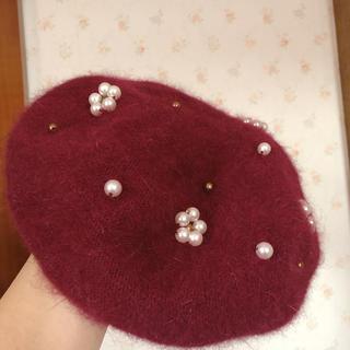 アクシーズファム(axes femme)のaxes♥︎ワインレッドベレー帽★送料無料!(ハンチング/ベレー帽)
