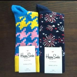 ビームス(BEAMS)のhappy socks メンズ 靴下 2足セット(ソックス)