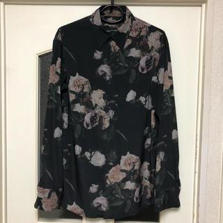ラッドミュージシャン(LAD MUSICIAN)のLAD MUSICIAN 17SS 花柄 スタンダードシャツ 46 BLACK (シャツ)
