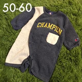 Champion - 【送料込】champion 裏起毛カバーオール ロンパース  50cm 60cm