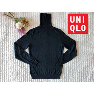 UNIQLO - ユニクロ*タートルネックセーター  M 極美品 洗濯機で洗えます