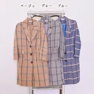 メルロー(merlot)の【新品】フィリル チェック チェスター コート(ロングコート)