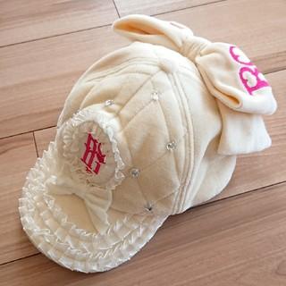 ロニィ(RONI)の美品♥️ロニィ★ビッグリボンつき帽子☆ベルベット(帽子)