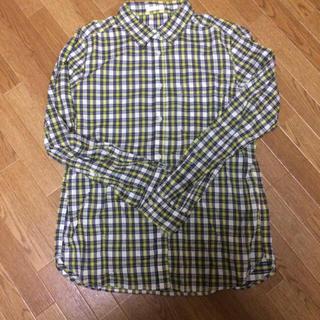 GU - ジーユー メンズ イエローチェックシャツ