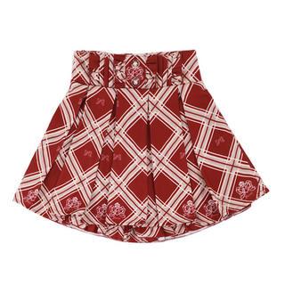 ボボンニジュウイチ(Bobon21)のBobon21 リボンチェック柄プリーツスカート (ミニスカート)