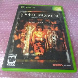 Xbox - 堀レアXBOX FATAL FLAME2 説明書なし⇒送料無料 D20101