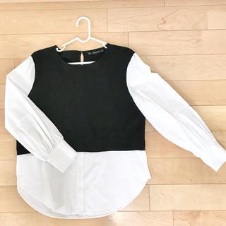 ZARA - ZARA ザラ ドッキングシャツ 長袖 未使用