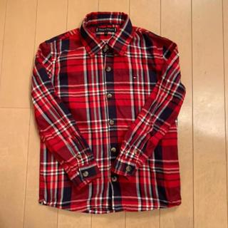 トミーヒルフィガー(TOMMY HILFIGER)の【定価→6500円】トミーヒルフィガー チェックシャツ  size 104cm(ブラウス)