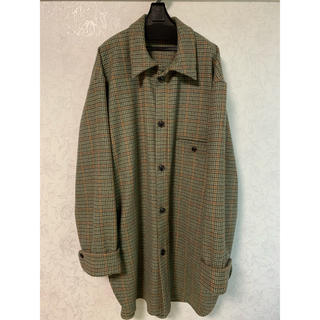 【新品未使用】URU 19aw wool check over shirts