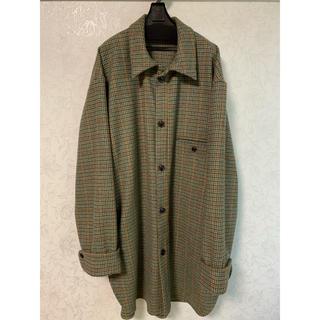 UNUSED - 【新品未使用】URU 19aw wool check over shirts