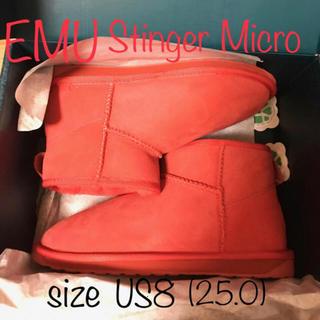 エミュー(EMU)のemu 撥水加工 Stinger Micro Red sizeUS8(ブーツ)