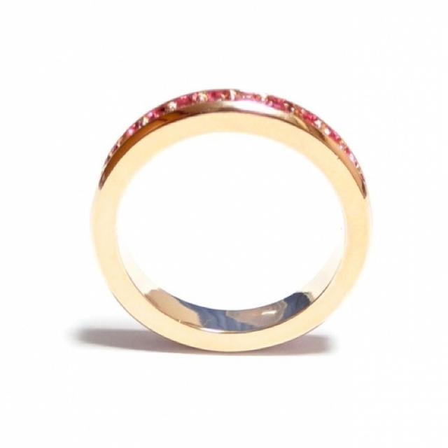 10号 フルエタニティ スワロフスキー ローズ ピンクゴールドリング レディースのアクセサリー(リング(指輪))の商品写真