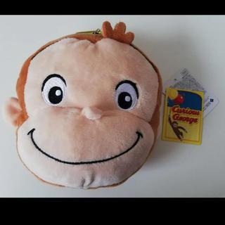 プティマイン(petit main)のおさるのジョージ フェイスリールパスケース ポーチ ぬいぐるみ 財布 猿 動物 (パスケース/IDカードホルダー)