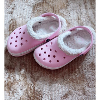 クロックス(crocs)のクロックス キッズ C10 11 17.5 &18センチ ピンク(サンダル)