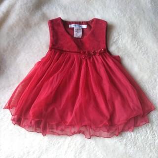 ファミリア(familiar)のファミリア 赤ドレス 70(セレモニードレス/スーツ)