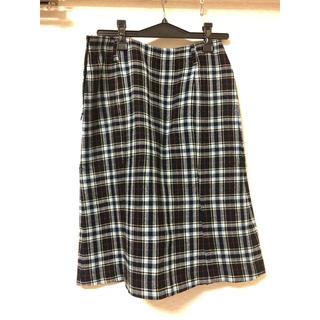 ミッシェルクラン(MICHEL KLEIN)のチェックスカート (ひざ丈スカート)