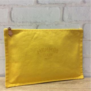 Hermes - エルメス ヨッティングGM イエロー キャンバス ポーチ 黄色 A86120